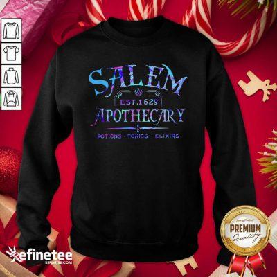 Official Salem Est 1629 Apothecary Potions Tonics Elixirs Color Sweatshirt - Design By Refinetee.com