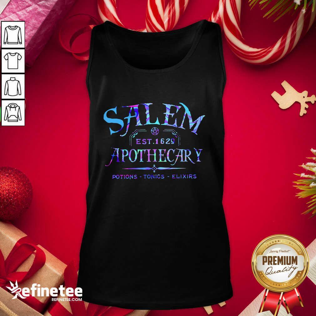Salem Est 1629 Apothecary Potions Tonics Elixirs Color Tank Top - Design By Refinetee.com