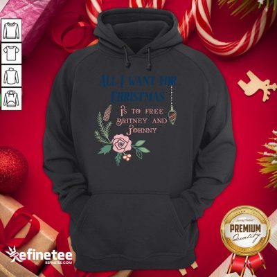Premium All I Want For Christmas Is To Free Britney And Johnny Hoodie - Design By Refinetee.com