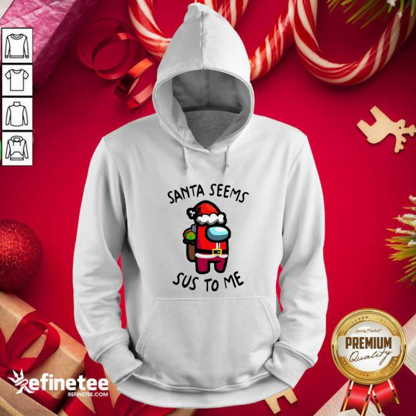 Wonderful Santa Seems Sus To Me Christmas Hoodie - Design By Refinetee.com
