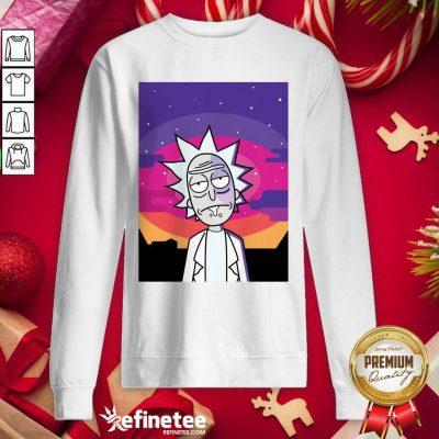 Attractive Rick Sanchez Vintage Sweatshirt - Design By Refinetee.com