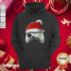 Attractive Video Game Controller Santa Hat Christmas Hoodie - Design By Refinetee.com