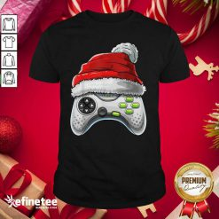 Attractive Video Game Controller Santa Hat Christmas Shirt - Design By Refinetee.com