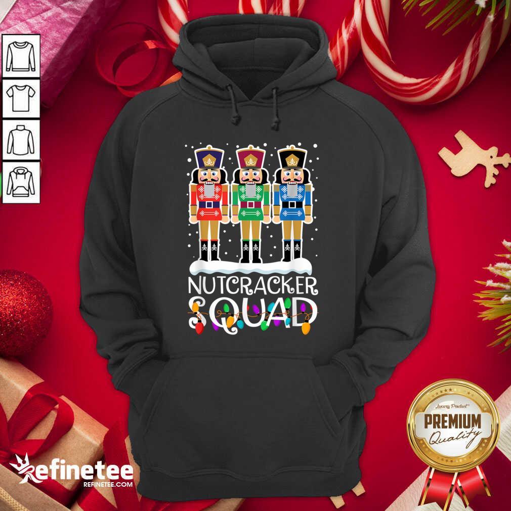 Nutcracker Squad Merry Christmas Hoodie - Design By Refinetee.com