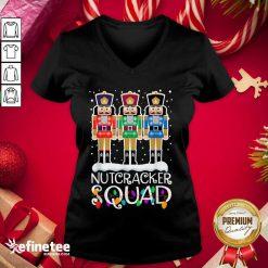Cool Nutcracker Squad Merry Christmas V-neck - Design By Refinetee.com