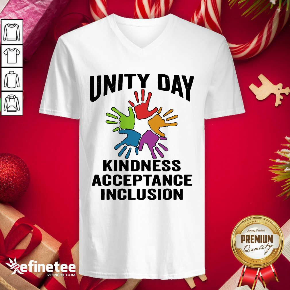 Unity Day Orange Be Kind Anti Bullying Kindness Acceptance Inclusion V-neck - Design By Refinetee.com