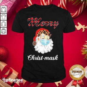 Excellent Santa Claus Face Mask Merry Christmas 2020 Shirt - Design By Refinetee.com