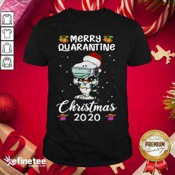 Excellent Snoopy Hat Santa Merry Quarantine Christmas 2020 Shirt - Design By Refinetee.com