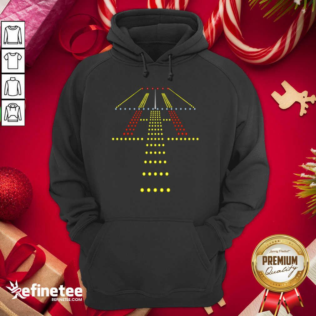 New Runway Light Ugly Christmas Hoodie - Design By Refinetee.com