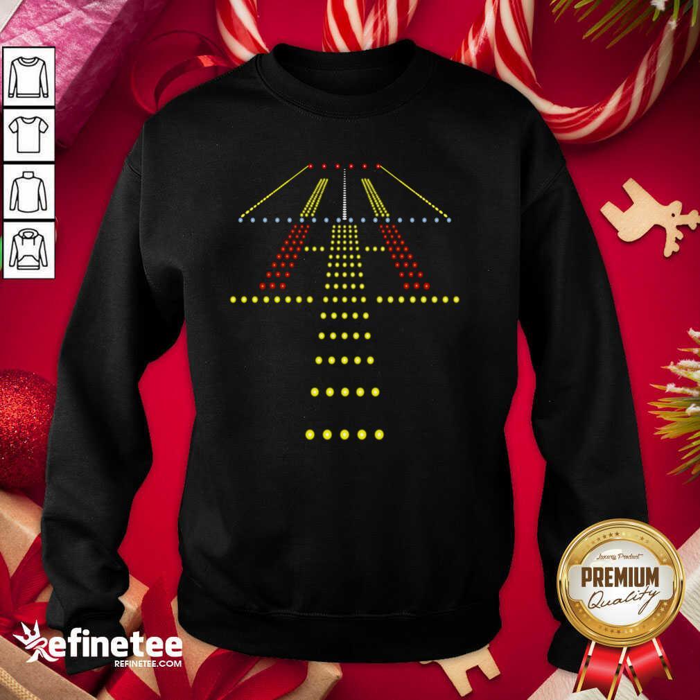 New Runway Light Ugly Christmas Sweatshirt - Design By Refinetee.com