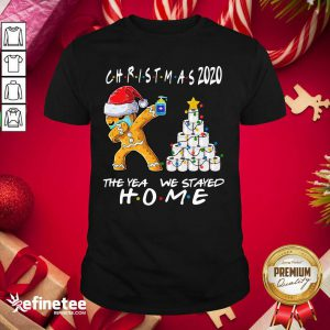 Funny Christmas 2020 The Year We Stayed Quarantine Gingerbread Wear Mask Toilet Paper Tree Shirt - Design By Refinetee.com