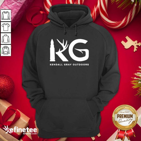 Good Kendall Gray Outdoors Merch Kg Hoodie - Design By Refinetee.com