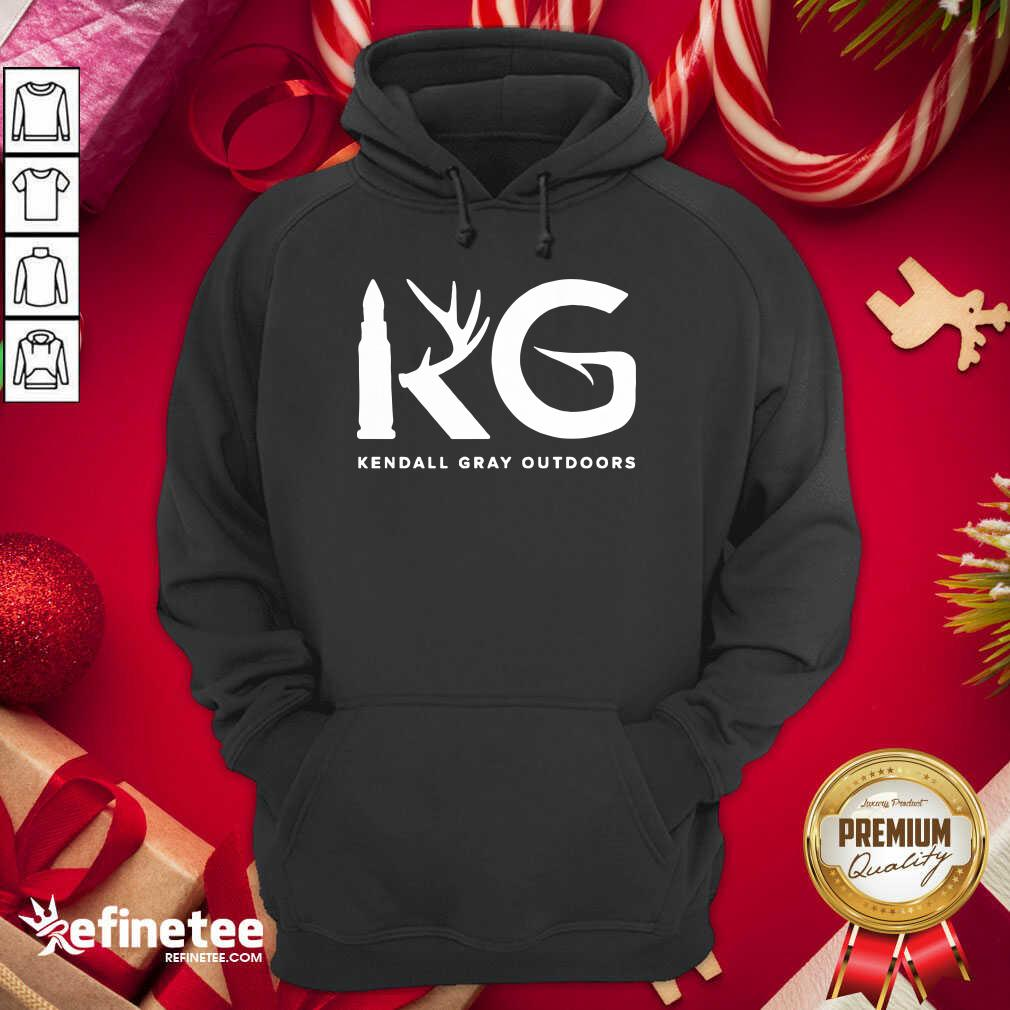 Kendall Gray Outdoors Merch Kg Hoodie - Design By Refinetee.com