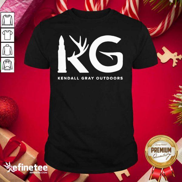 Good Kendall Gray Outdoors Merch Kg Shirt - Design By Refinetee.com