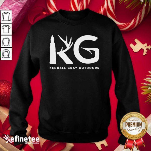 Good Kendall Gray Outdoors Merch Kg Sweatshirt - Design By Refinetee.com
