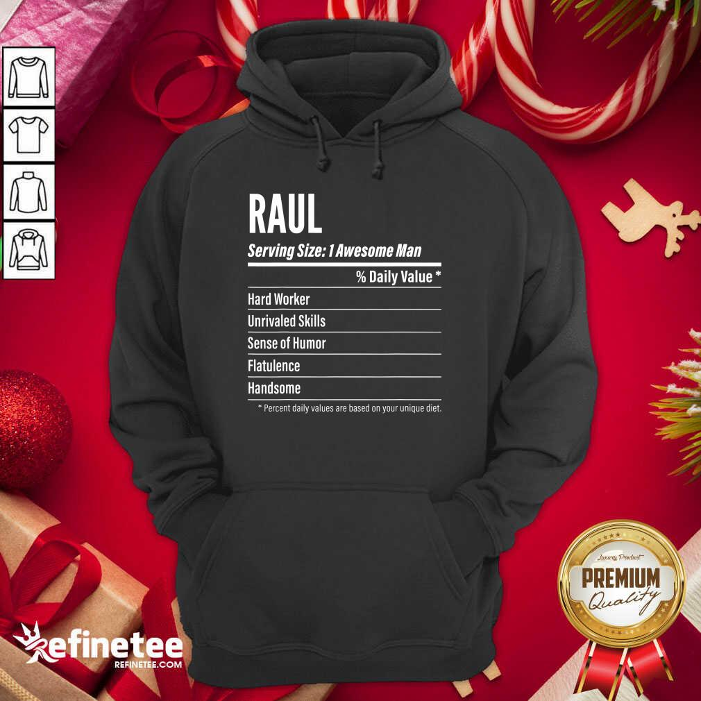 Raul Nutritional Facts Serving Size Calories Hoodie - Design By Refinetee.com