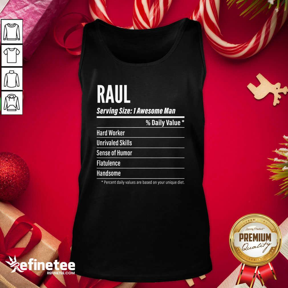 Raul Nutritional Facts Serving Size Calories Tank Top - Design By Refinetee.com