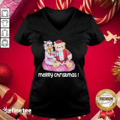Great Rebekah Wing Merch Merry Christmas V-neck - Design By Refinetee.com