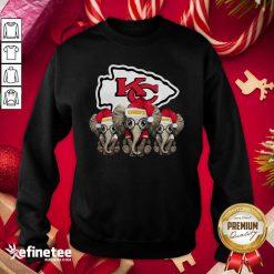 Happy Kansas City Chiefs Elephant Christmas Sweatshirt - Design By Refinetee.com