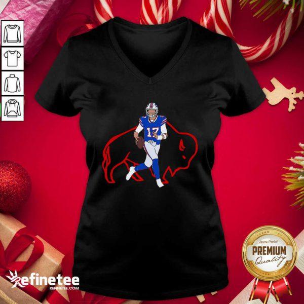 Hot Josh Allen Buffalo Bills V-neck - Design By Refinetee.com
