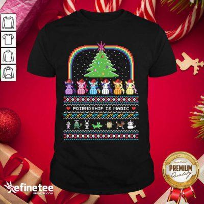 Hot Unicorn Friendship Is Magic Ugly Christmas Shirt - Design By Refinetee.com