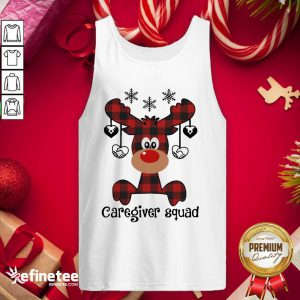 Lovely Reindeer Caregiver Squad Christmas Tank Top - Design By Refinetee.com