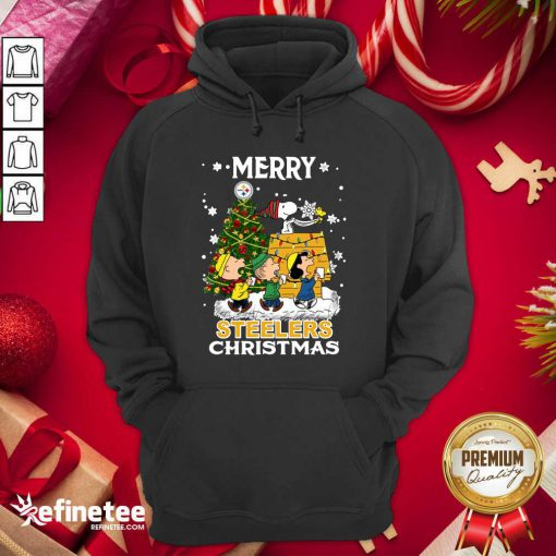 Nice The Peanuts Snoopy And Friend Merry Steelers Ugly Christmas Hoodie - Design By Refinetee.com