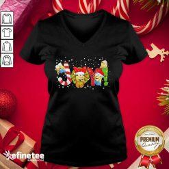 Official Minions Joy Christmas V-neck - Design By Refinetee.com