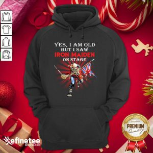 Official Yes I Am Old But I Saw Iron Maiden On Stage Skeleton Hoodie - Design By Refinetee.com