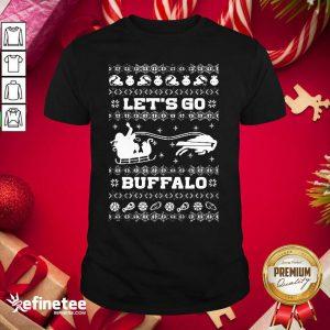 Perfect Let Go Buffalo Bills Ugly Christmas Shirt - Design By Refinetee.com