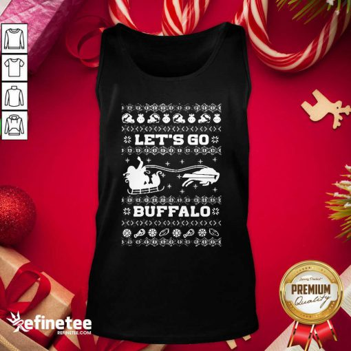 Perfect Let Go Buffalo Bills Ugly Christmas Tank Top - Design By Refinetee.com