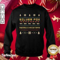 Perfect SILVER FOX Merry Christmas Ugly Christmas Sweatshirt - Design By Refinetee.com