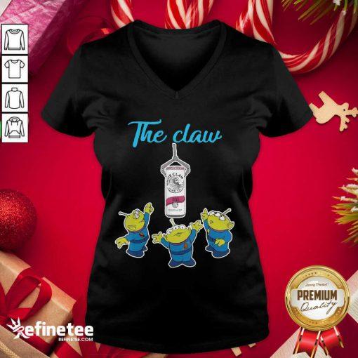 Premium The Claw Merry Christmas V-neck - Design By Refinetee.com