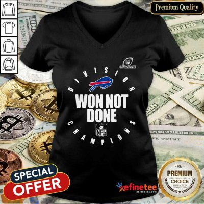 Pretty Buffalo Bills Champions 2020 Won Not Done V-neck - Design By Refinetee.com