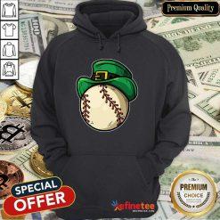Top Shamrock Baseball Leprechaun St Patricks Day Hoodie - Design By Refinetee.com