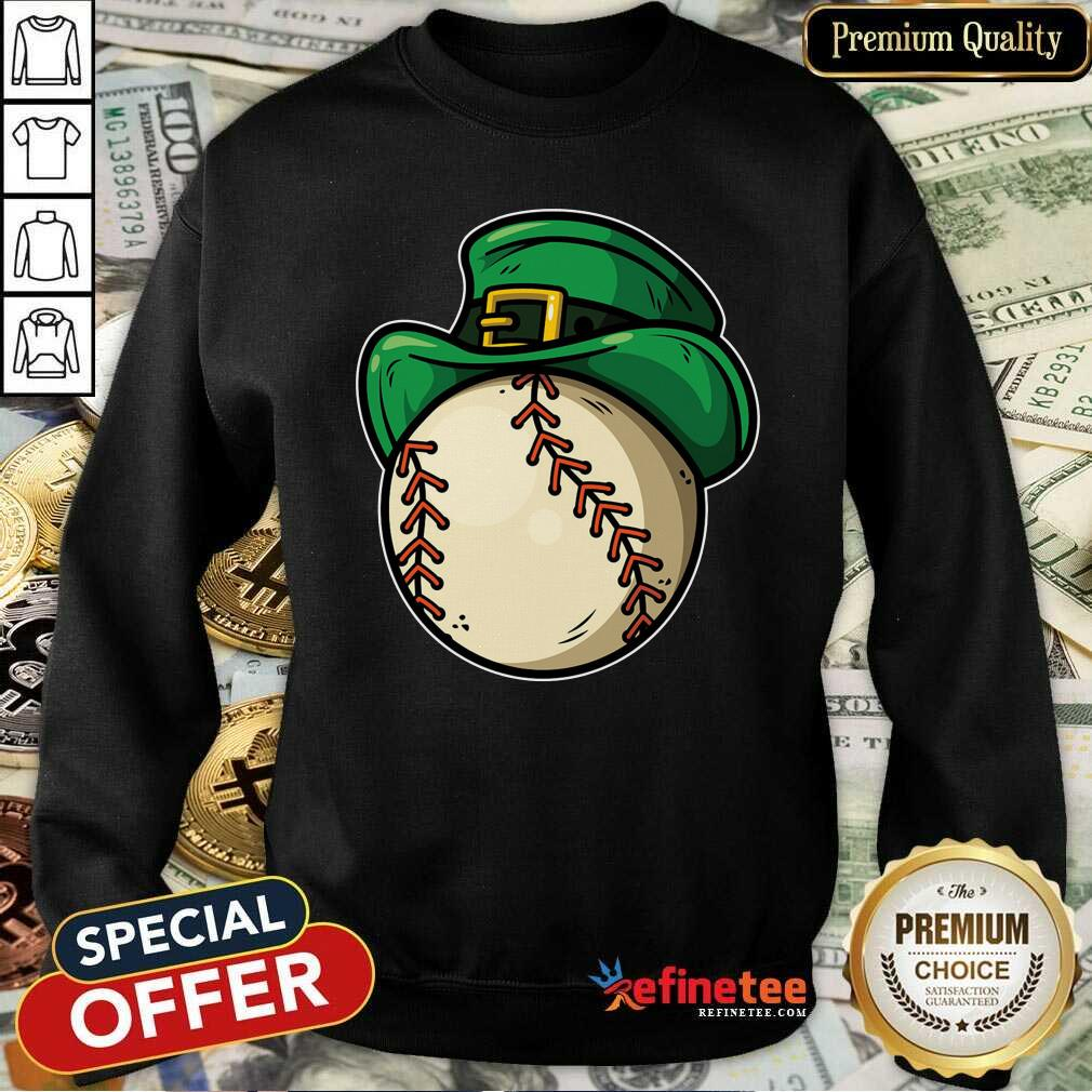 Shamrock Baseball Leprechaun St Patricks Day Sweatshirt - Design By Refinetee.com