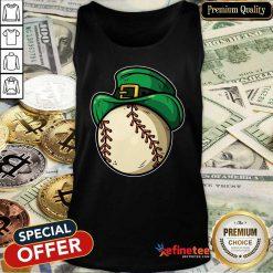 Top Shamrock Baseball Leprechaun St Patricks Day Tank Top - Design By Refinetee.com