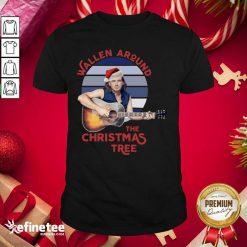 Top Swollen Around The Christmas Tree Vintage Christmas Shirt - Design By Refinetee.com
