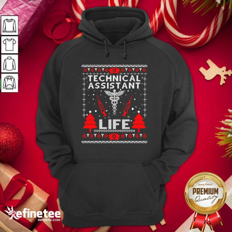Top Teaching Assistant Life Cute Gift Ugly Christmas Medical Hoodie - Design By Refinetee.com
