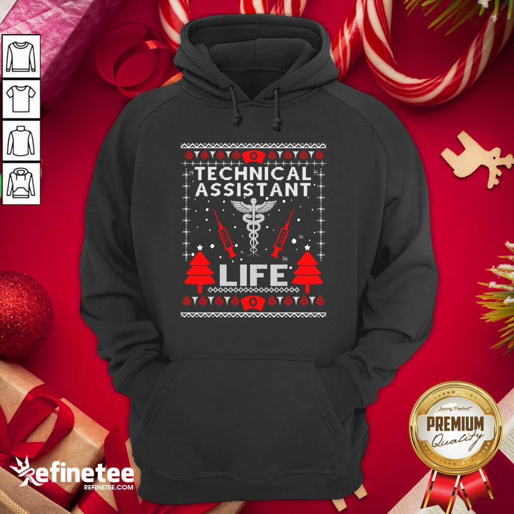 Teaching Assistant Life Cute Gift Ugly Christmas Medical Hoodie - Design By Refinetee.com