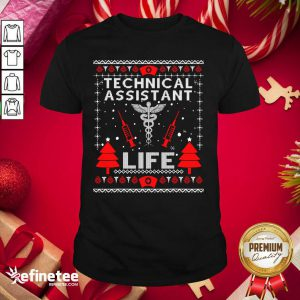 Top Teaching Assistant Life Cute Gift Ugly Christmas Medical Shirt - Design By Refinetee.com
