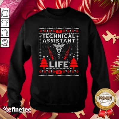 Top Teaching Assistant Life Cute Gift Ugly Christmas Medical Sweatshirt - Design By Refinetee.com