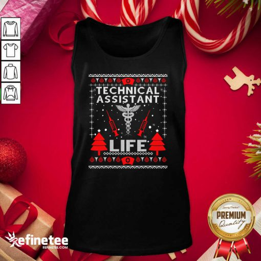 Top Teaching Assistant Life Cute Gift Ugly Christmas Medical Tank Top - Design By Refinetee.com