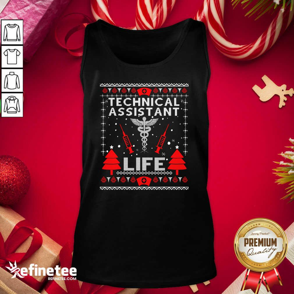 Teaching Assistant Life Cute Gift Ugly Christmas Medical Tank Top - Design By Refinetee.com
