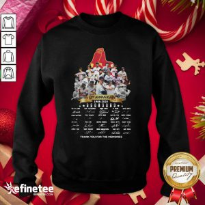 Top The Boston Red Sox 112nd Anniversary 1902 2020 Thank You For The Memories Signatures Sweatshirt - Design By Refinetee.com
