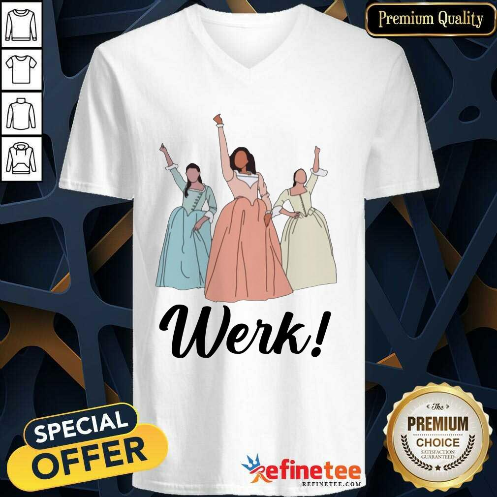 The Schuyler Sisters Werk Include Women In The Sequel V-neck - Design By Refinetee.com