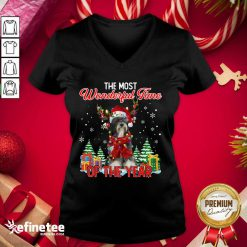 Top Tibetan Terrier The Most Wonderful Time Of The Year Ugly Christmas V-neck - Design By Refinetee.com