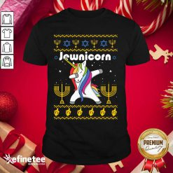 Wonderful Unicorn Jewnicorn Ugly Christmas Shirt - Design By Refinetee.com