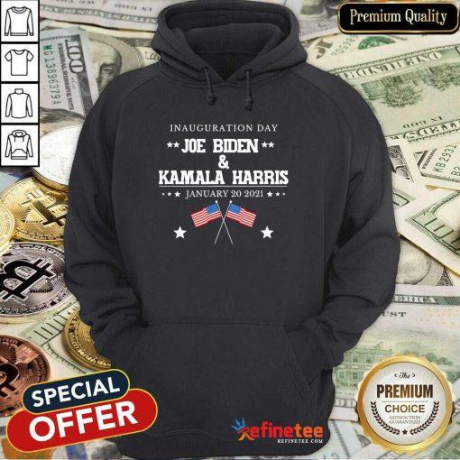 Perfect Joe Biden And Kamala Harris Inauguration Day 2021 Retro American Flag Hoodie