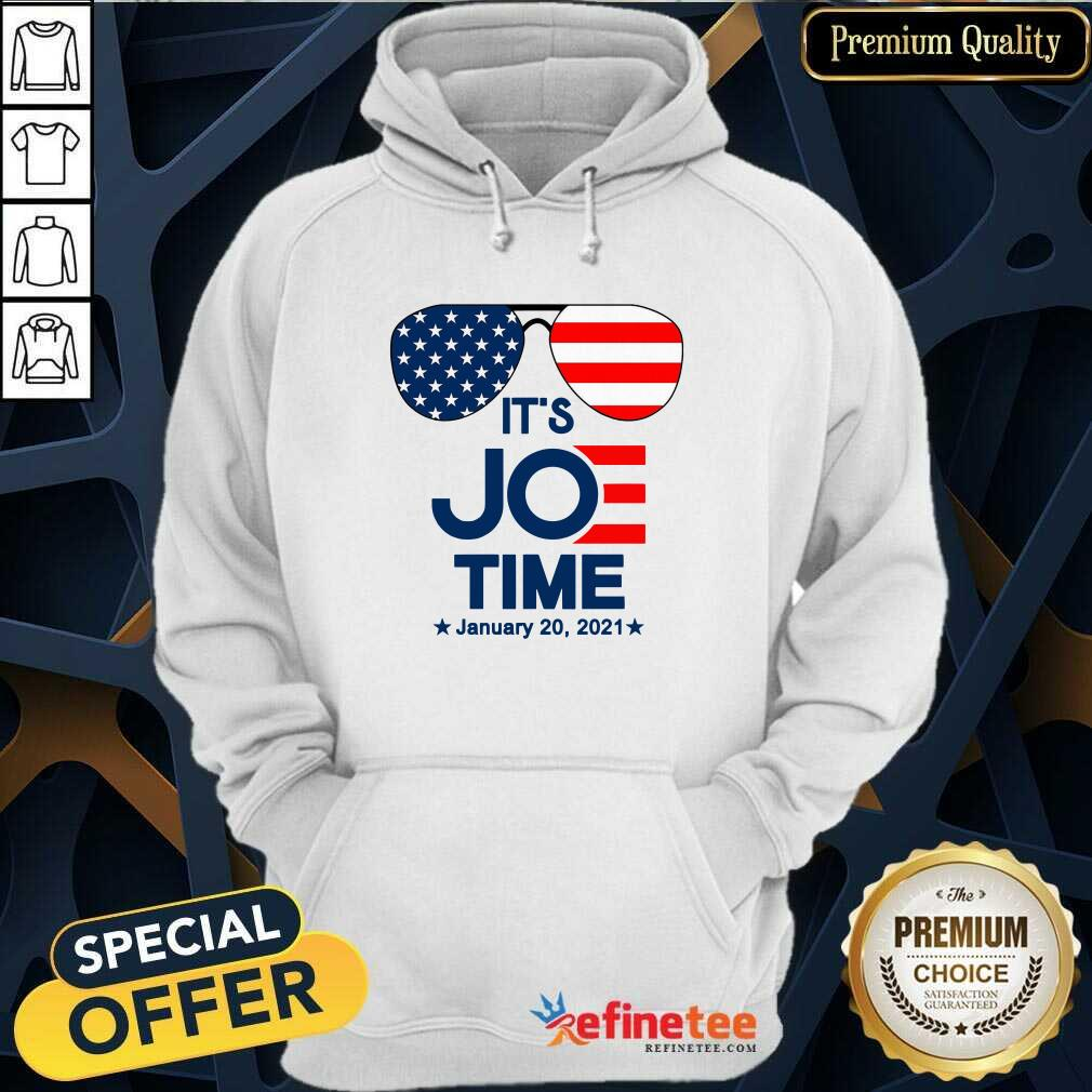 Excellent Glasses American Flag It's Joe Time January 20 2021 Hoodie